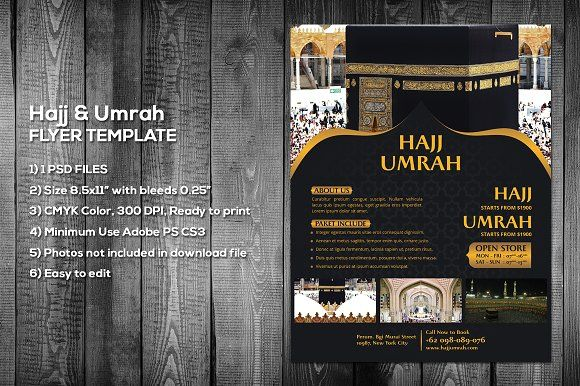 Hajj Amp Umrah Flyer Template By Meisuseno On