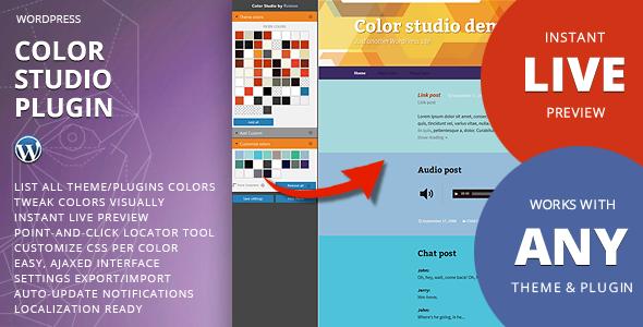 Color studio for WordPress Wordpress, Website design