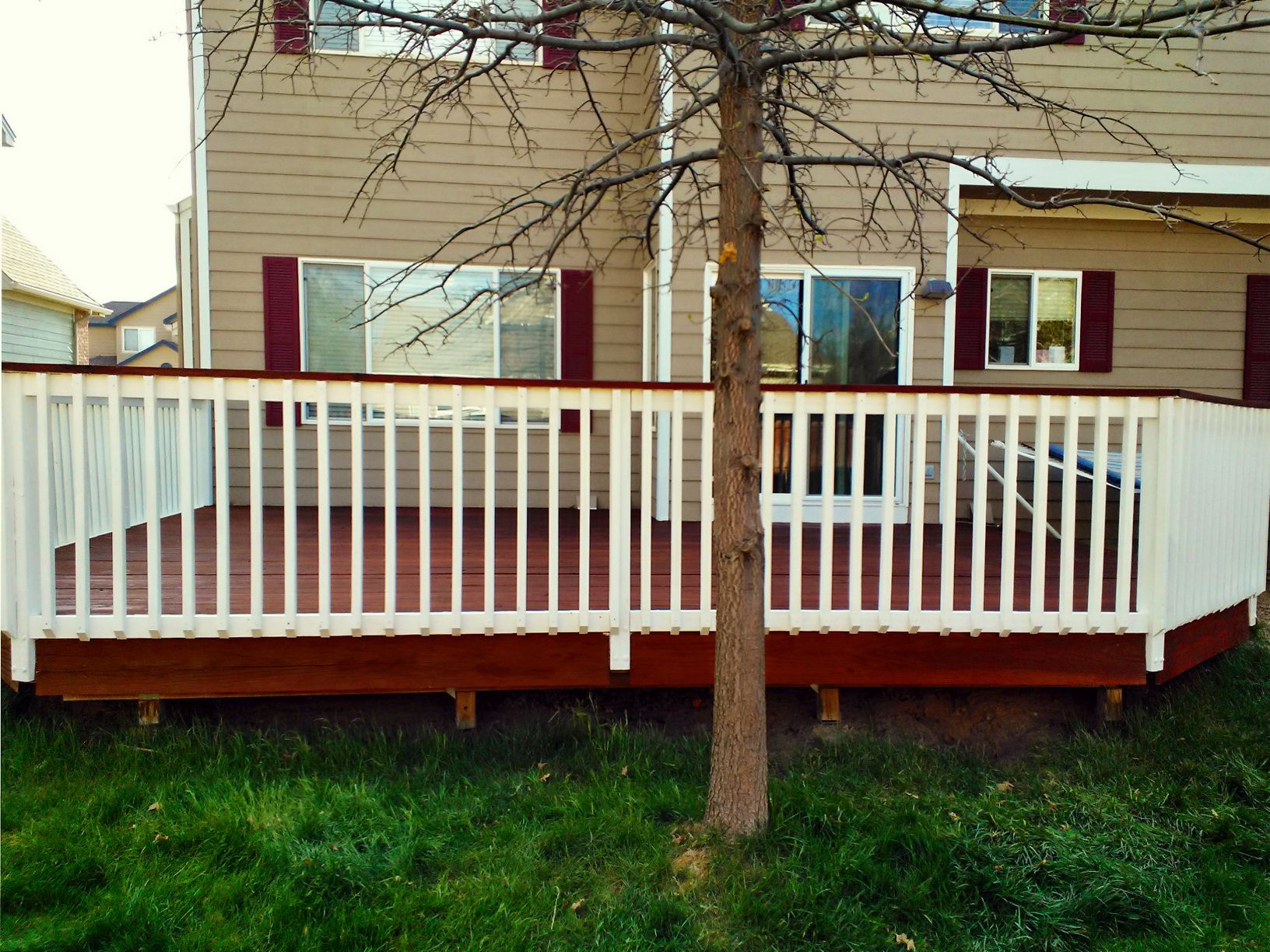 16 best decks images on pinterest porch ideas stains and deck ive considered painting the deck and top rail a shade slightly darker than the house and then paint the spindles and bottom rail whitecream this is an baanklon Image collections