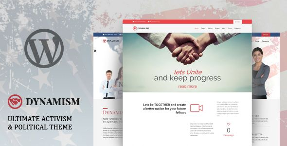 Dynamism  Political  Activism Wp Theme  Wordpress Theme Design