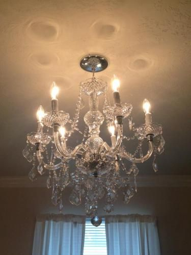 Hampton Bay Maria Theresa 6 Light Chrome Chandelier C873ch06 At The Home Depot Mobile