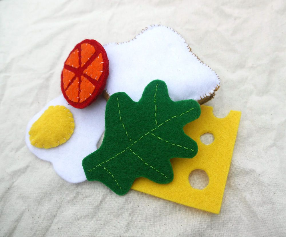 FELT FOOD- Pretend Play- Sandwhich Set