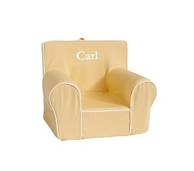 Yellow With White Piping Anywhere Chair 174 Kids Seating
