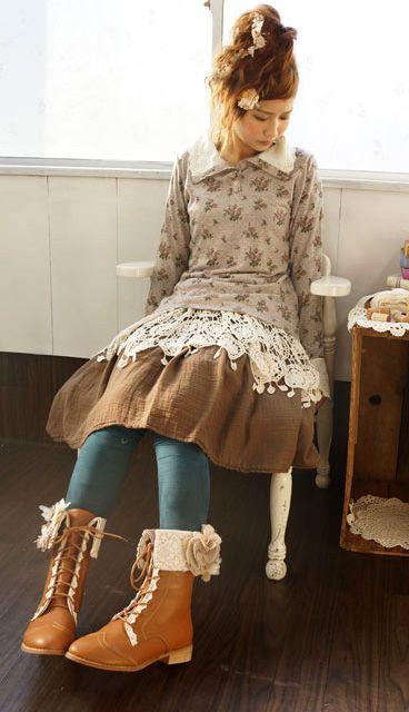 Mori girl   성인옷   Pinterest   Super, Winterkleidung und Kleid nähen 2b0fbf58b8