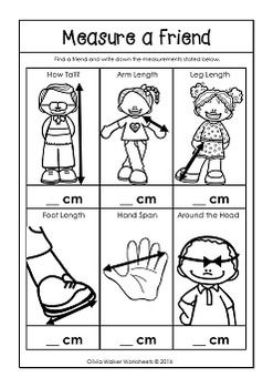 Metric Measurement Worksheets Length Kindergarten, Grade