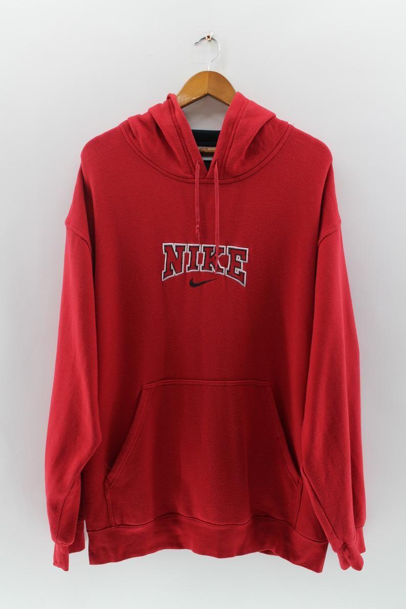 Nike Swoosh Pullover Hoodie Sweaters Men Large Vintage Etsy Shirt Jacket Men Pullover Sweatshirts Activewear Sportswear