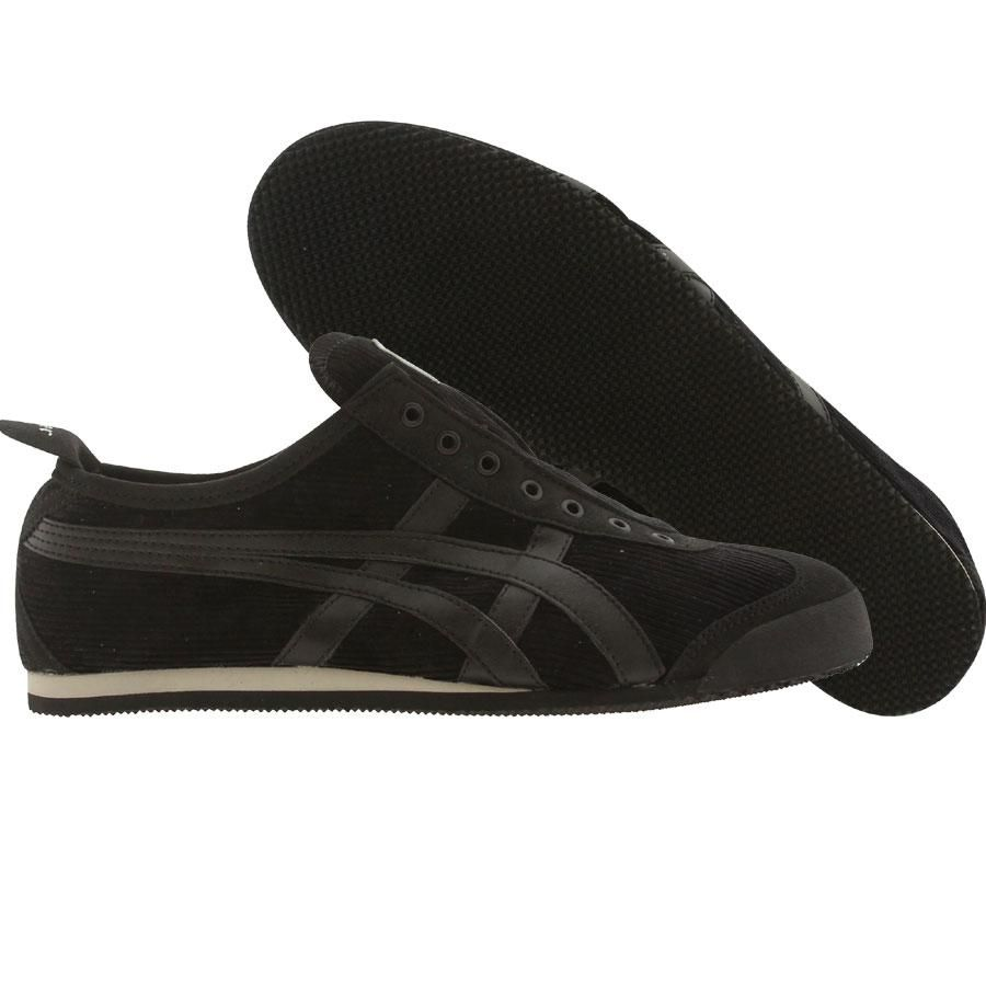 meet c89d6 6c149 Asics Onitsuka Tiger Womens Mexico 66 Slip On (black   black tan)  D2R8N-9062 -  74.99