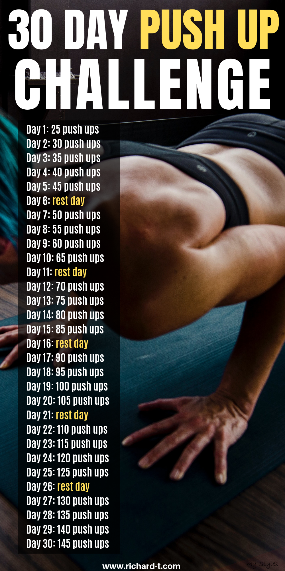 The 30 Day Push Up Challenge For Upper Body Strength #fitness #design