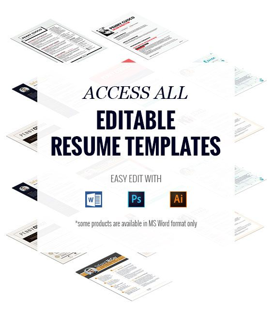 Get Unlimited Access to all Editable #Resume #Templates   - editable resume templates