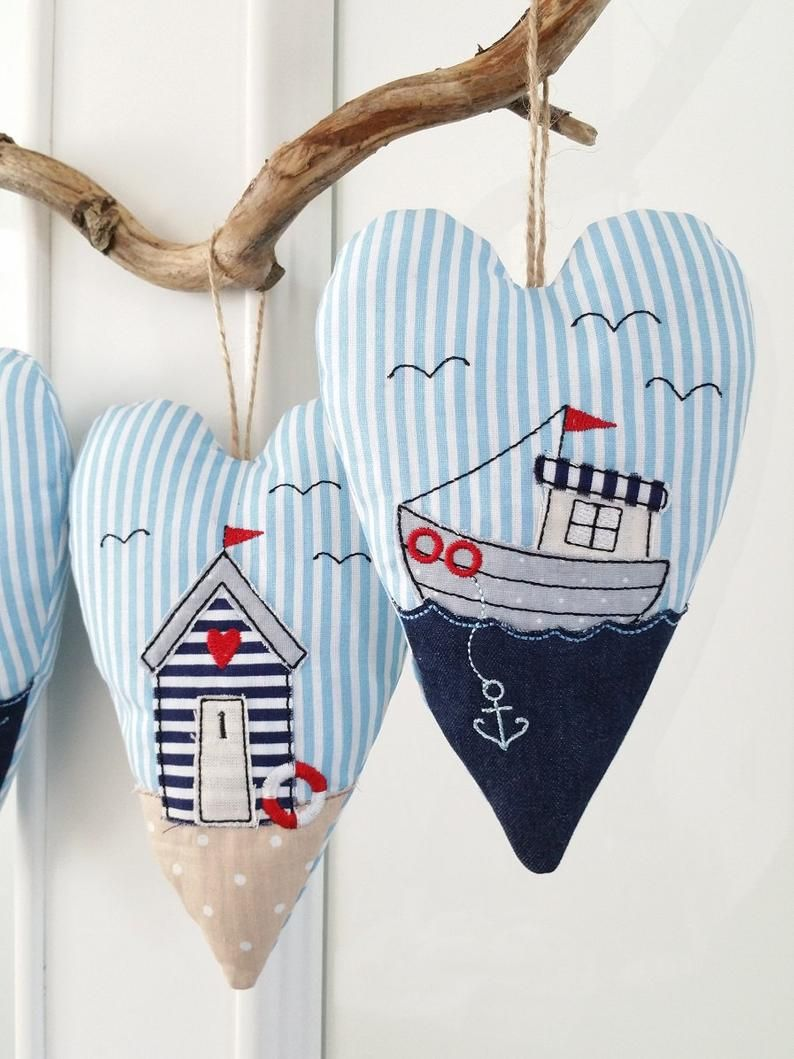 ITH Embroidery File Hearts *By the Sea* 13x18
