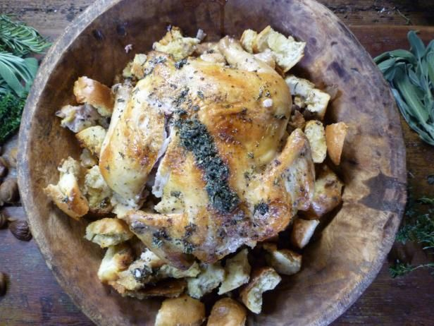 Simple roast chicken with chestnut breading recipe simple roast get simple roast chicken with chestnut breading recipe from food network forumfinder Images