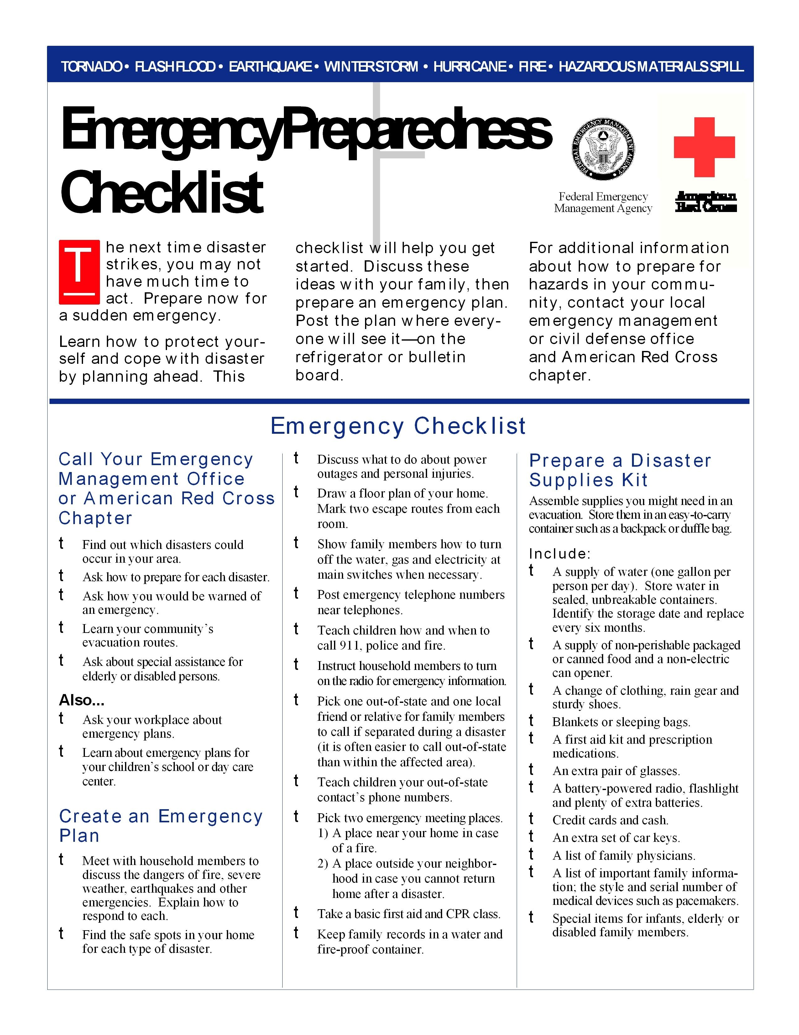 PS Emergency Preparedness Checklist (1) Emergency