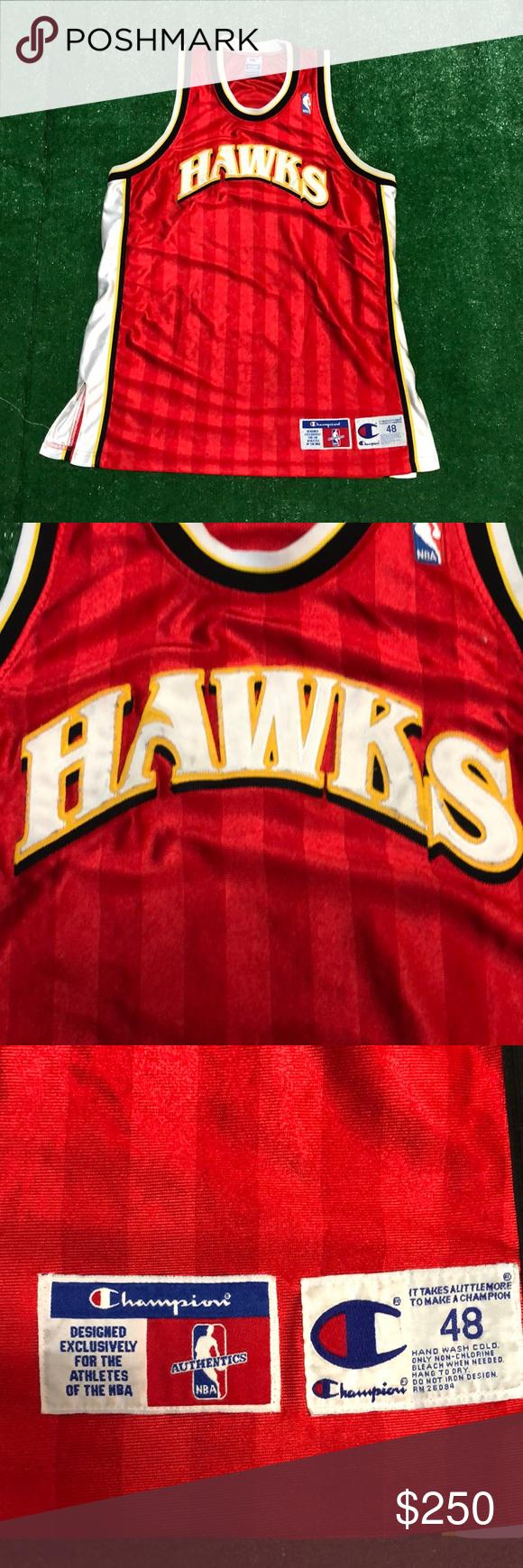 d853b6f27ec9 Blank Authentic NBA Atlanta Hawks Champion Jersey Rare vintage NBA  Authentic Blank Atlanta Hawks Champion Basketball
