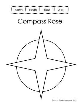 Compass Rose Worksheet Kindergarten Compass Rose Kindergarten Worksheets Interactive Notes
