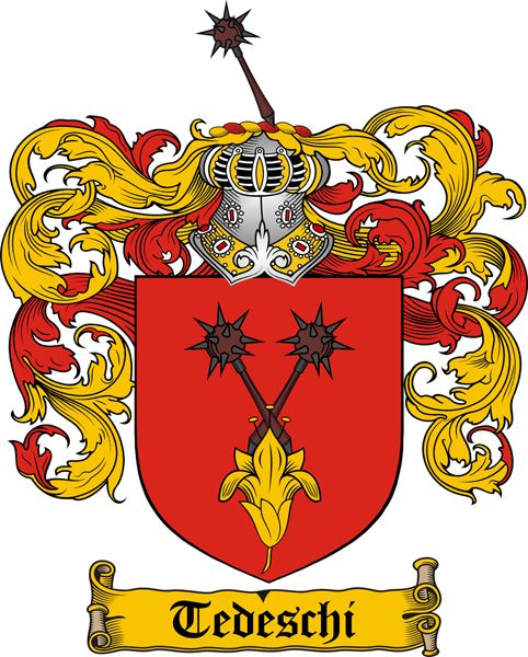 Italian Family History Crests ~ TEDESCHI coat of arms ~ #famiglia