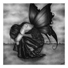 Sad Butterfly Girl Pillow | Zazzle.com