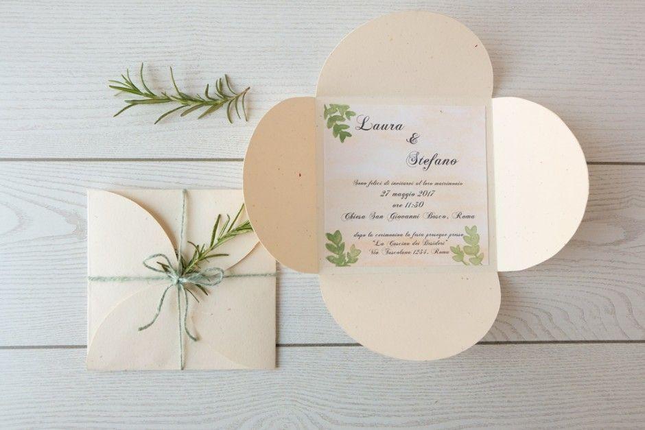 Partecipazioni Matrimonio Green.Diy Wedding Invitation Partecipazioni In Stile Green Matrimonio