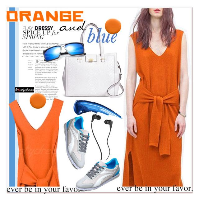 orange and blue by paculi on Polyvore featuring Brooks Brothers, Skullcandy, Uslu Airlines, women's clothing, women's fashion, women, female, woman, misses and juniors