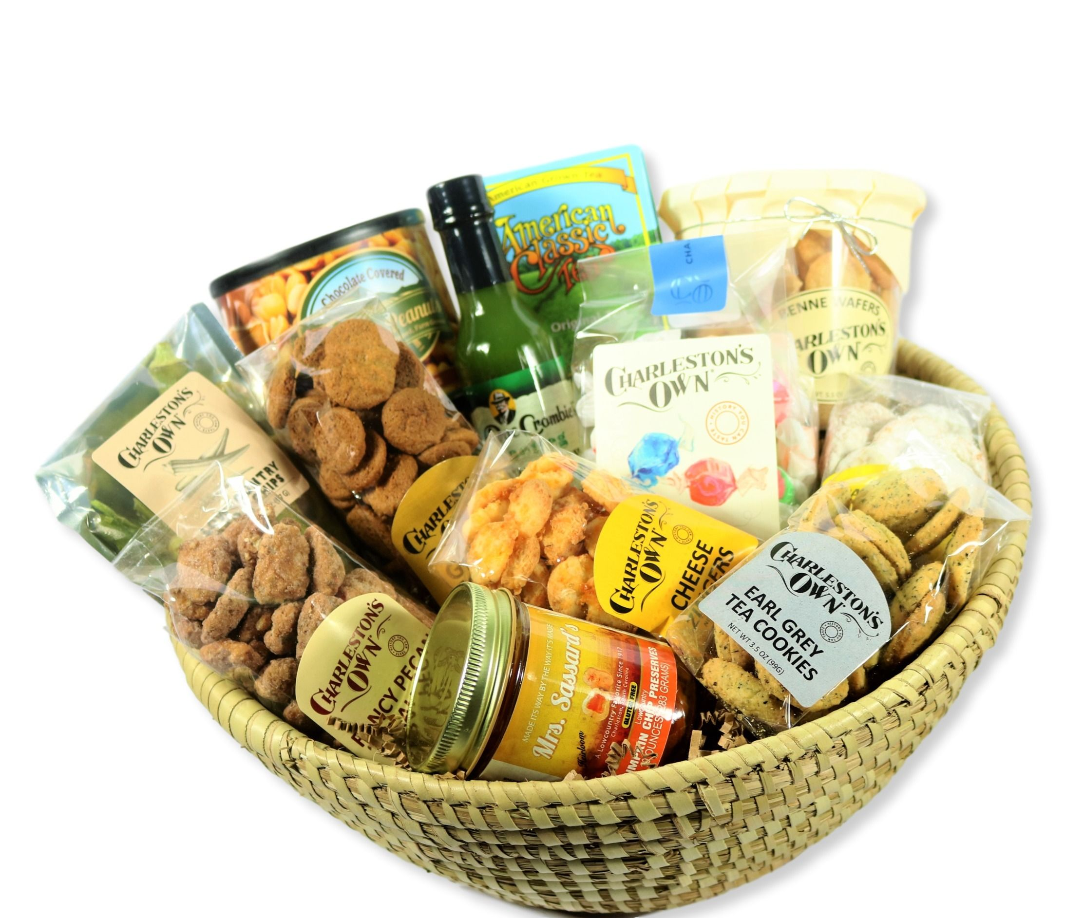 Custom Gift Basket with local South Carolina food items.