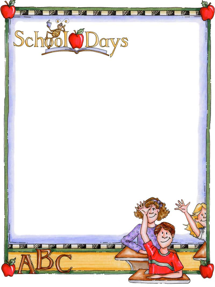 free school themed border paper back to school bulletin board - School Papers To Print