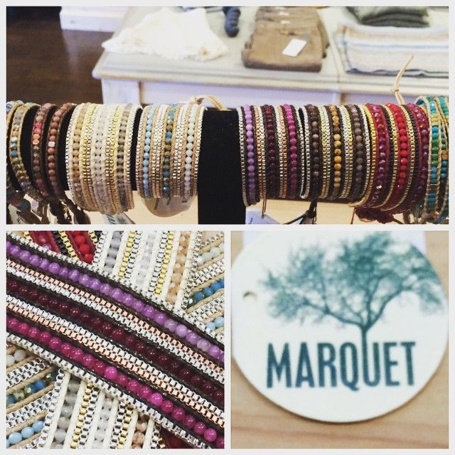 We are so excited to be carrying this new line Marquet. Not only is it gorgeous and hand made BUT it's fair trade too! All styles retail for $58 and under making this a perfect gift!