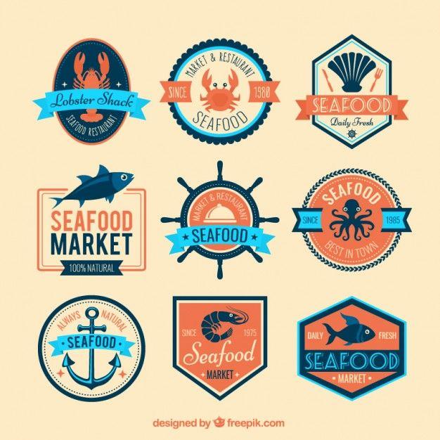 Fondo mariscos vectores