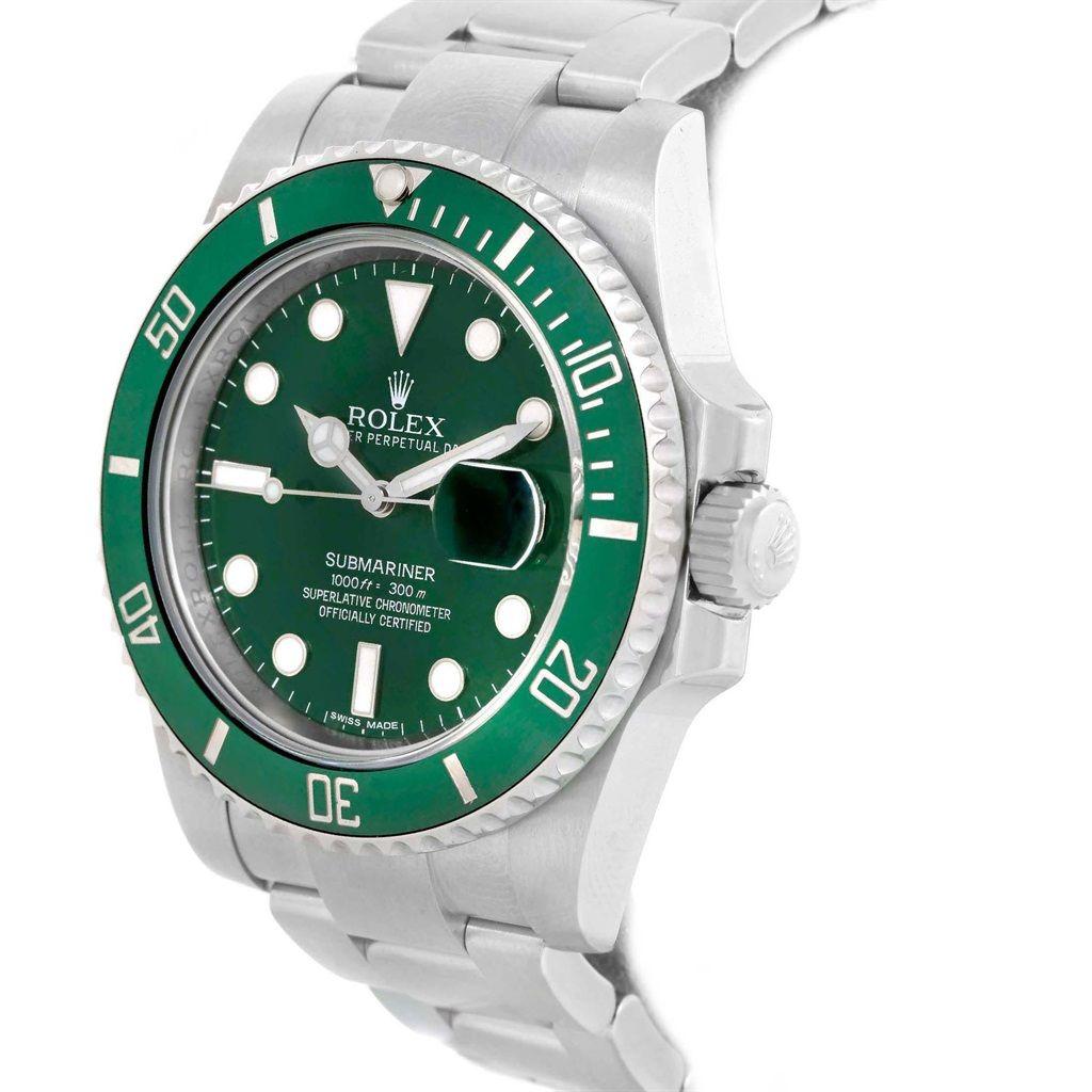 Rolex Submariner Hulk Green Dial Bezel Steel Watch LV