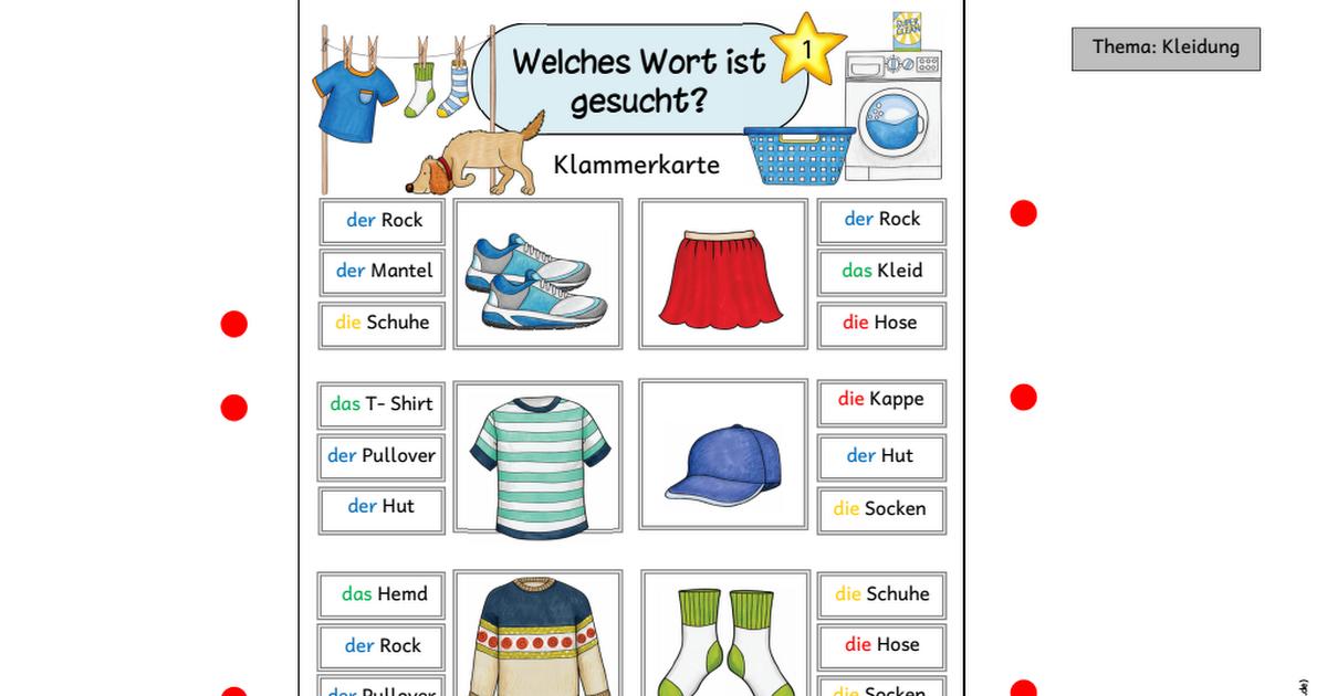 Materialpaket_Kleidung_Bearbeitung.pdf | Schule | Pinterest ...