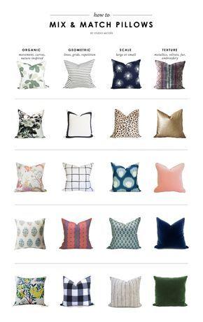 How to Mix & Match Pillows || Studio