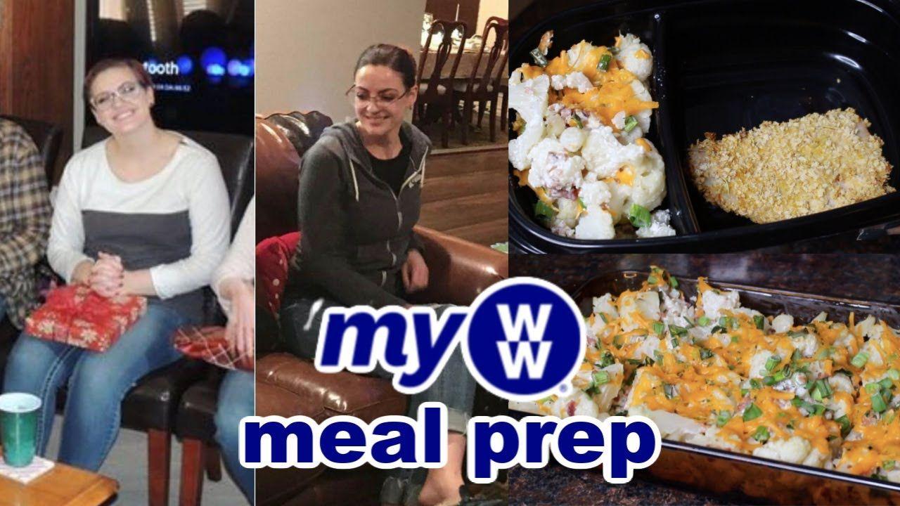 MyWW Meal Prep | Hashbrown Casserole, Air Fryer Pork Chops, Loaded Cauliflower Bake #loadedcauliflowerbake