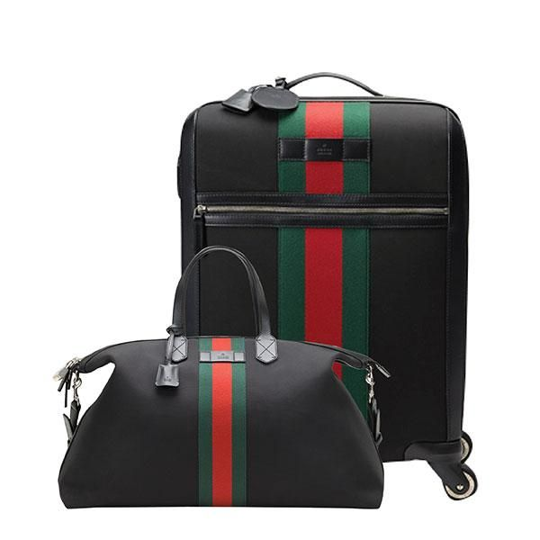 2f55f834b The 10 best luxury luggage sets to invest in - Elle Canada. The statement  stripes on this compact Gucci suitcase and duffle bag will make them a snap  to ...