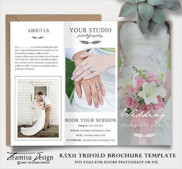 Wedding Photography Guide Template trifold Pinterest - wedding brochure template
