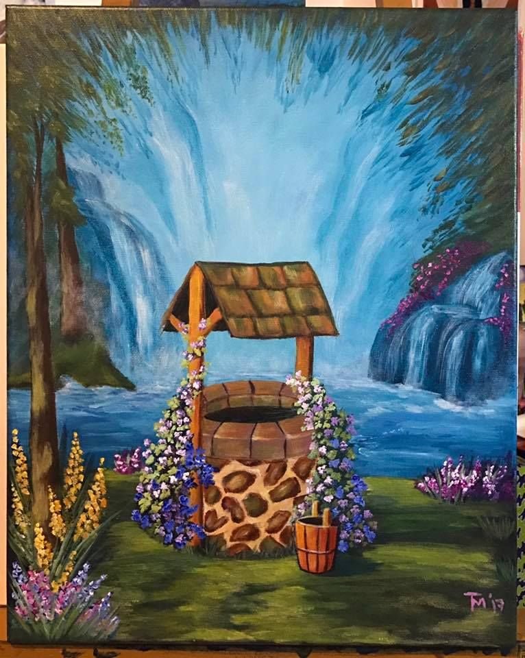 Wishing Well Painted By Natalie Macawaris This Charming Scene