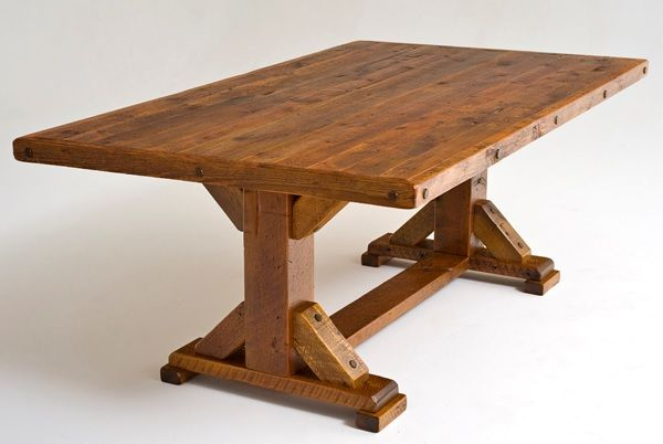 Barnwood Table Trestle Base Design 2 Item Dt00121