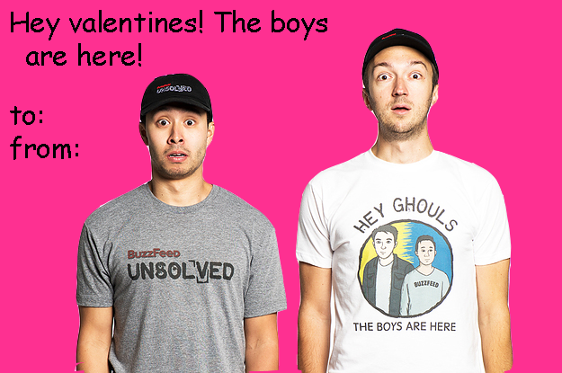 Buzzfeed Unsolved Valentines Keep It Spooky This Valentine S Day With The Boys Unsolved Funny Valentines Cards Internet Funny