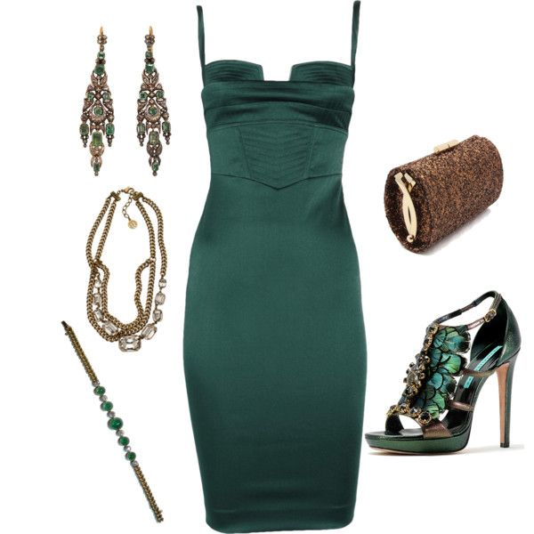 Hunter Green and Bronze, created by manda3482 on Polyvore