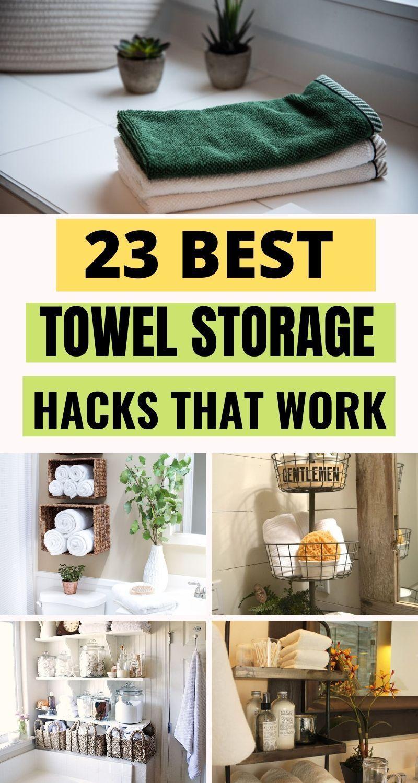 23 Smart Yet Simple Towel Storage Ideas You Ll Love In 2020 Towel Storage Diy Towels Towel