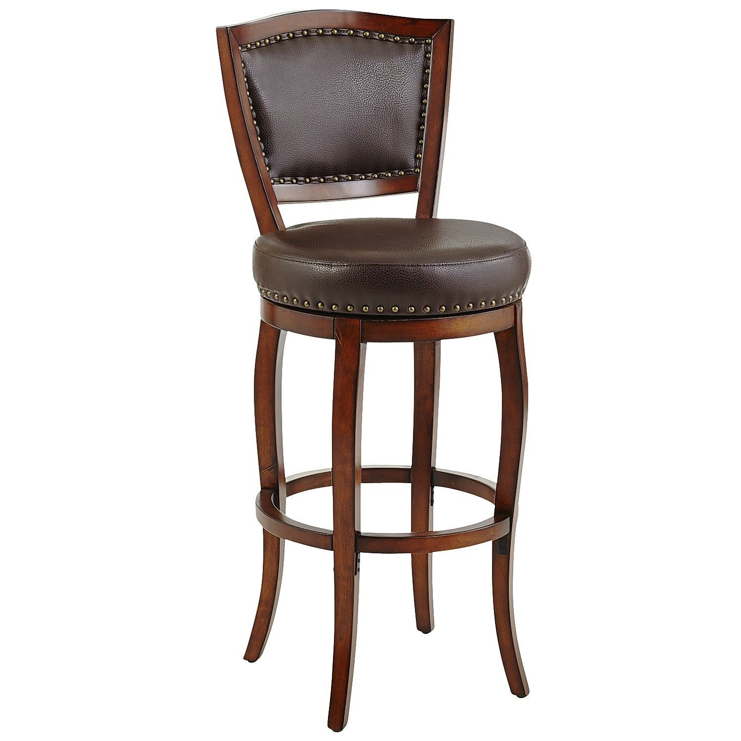 Billings Tobacco Brown Swivel Bar Stool With Images Bar Stools