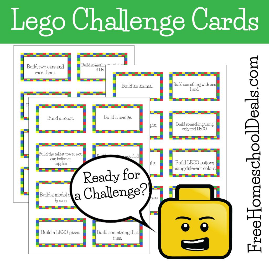 Free Printable Lego Challenge Cards Lego Challenge Lego Therapy Lego Activities