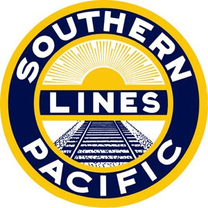 """12/"""" SOUTHERN PACIFIC LINES RAILROAD LOGO DECAL TRAIN STICKER WALL OR WINDOW"""
