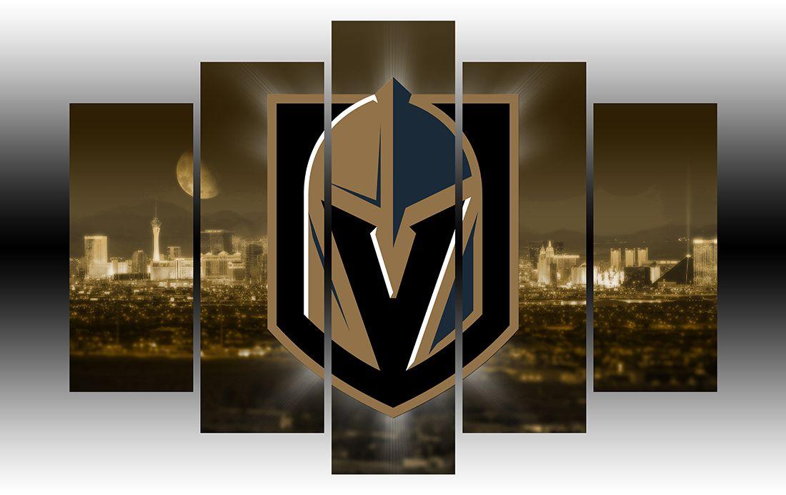 Vegas Golden Knights Nhl Hockey Team 5 Panel Frame Golden Knights Hockey Vegas Golden Knights Golden Knights