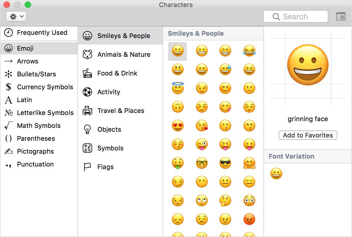 Uzywanie Ikon Emoji Liter Ze Znakami Diakrytycznymi I Symboli Na Komputerze Mac Emoji Keyboard Symbols Apple Keyboard