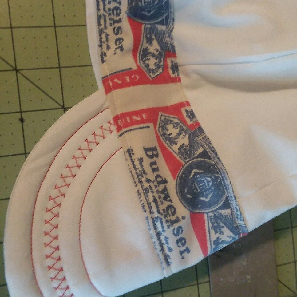 Budweiser on white Custom Welding Caps 481253d3e675
