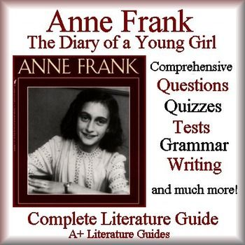 anne frank the diary of a young girl novel study print  anne frank the diary of a young girl novel study print paperless self grading