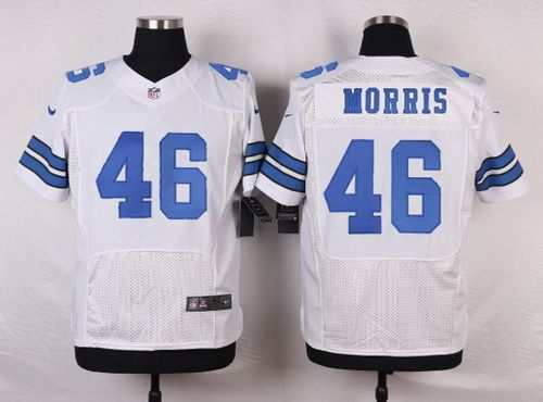 f04307454 ... Dallas Cowboys 46 Alfred Morris White Road NFL Nike Elite Jersey ...