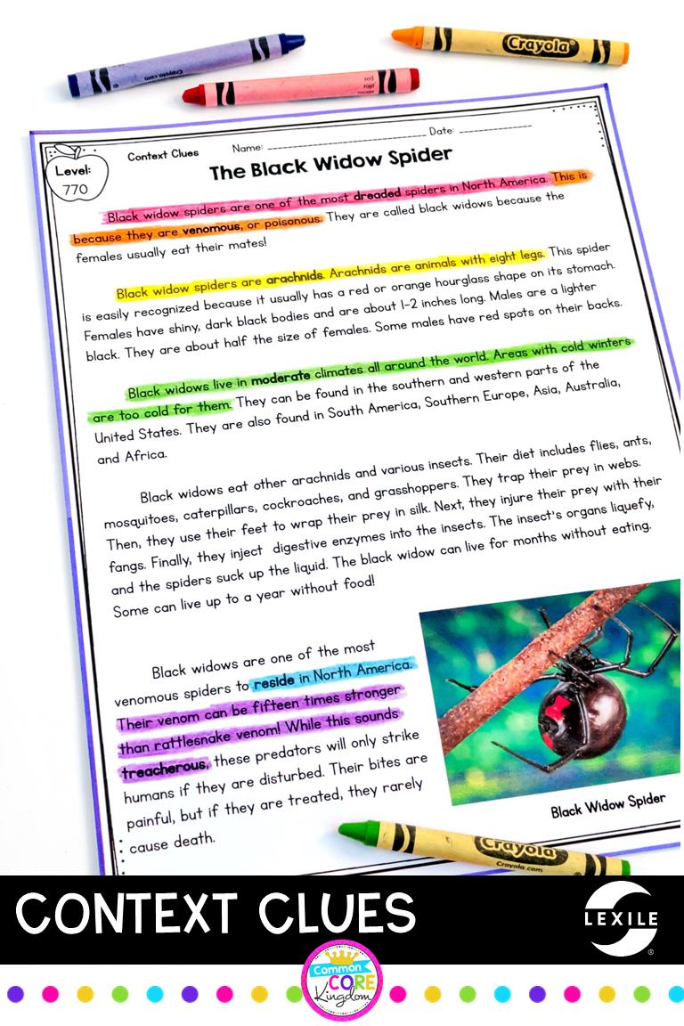 Context Clues Context Clues Context Clues Passages Reading Comprehension Texts [ 1152 x 768 Pixel ]