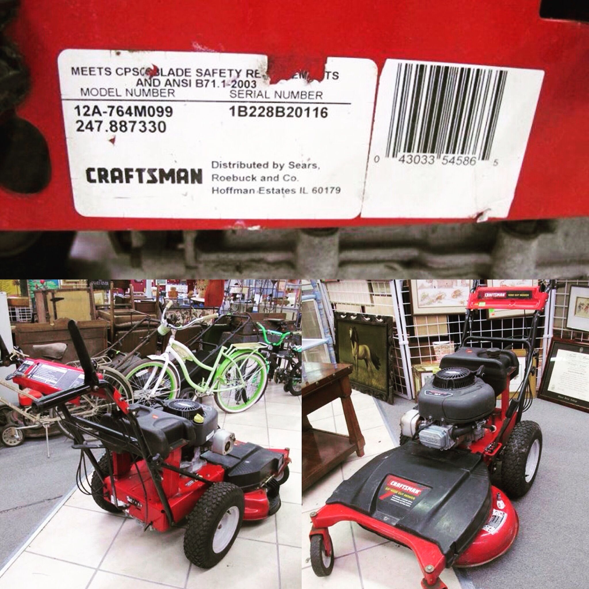 briggs and stratton push mower serial number