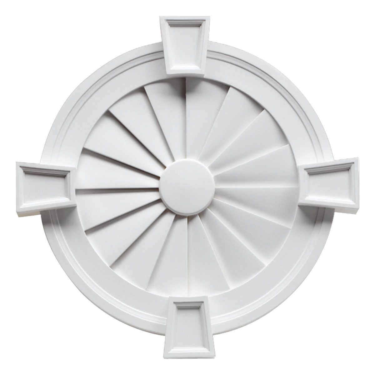 Attirant Primed Polyurethane Decorative Round Louver With Decorative Trim And  Keystone Smooth, At The Home Depot   Mobile