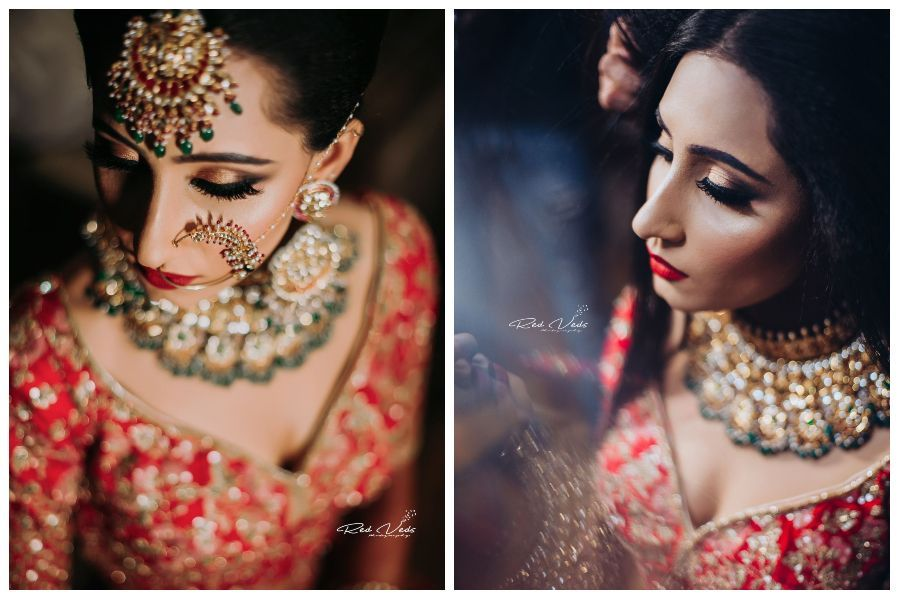 How to Pose for a Beautiful Bridal Portrait || Red Veds Photography #bridalportraitposes