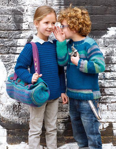 Catalogue Enfant 71 Automne / Hiver | 28: Enfant Pull | Bleu-Émeraude / Bleu nocturne